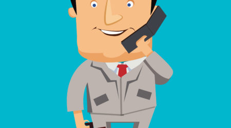 business man on phone vector