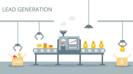 lead generation process machine vector