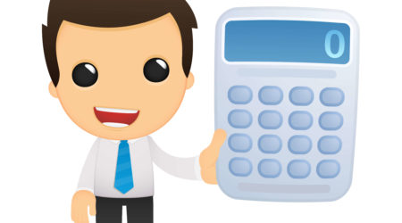 man with calculator vector