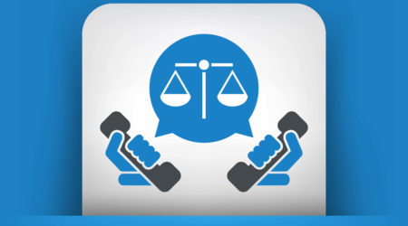 phones and scales of justice vector