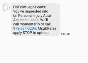 personal injury lead generation auto response from onpointlegalleads